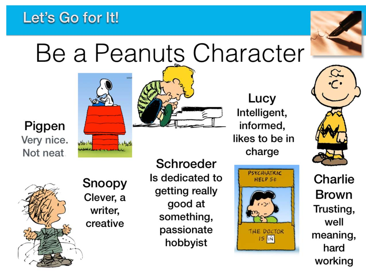 Be a Peanuts Character