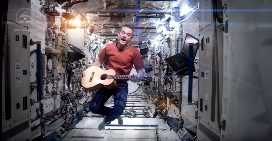 "May, 2013: Hatfield Sings ""Major Tom"" in Space"