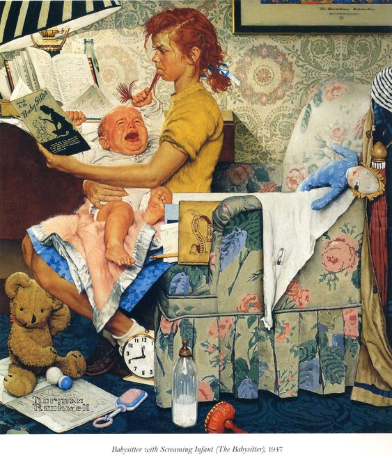 The Babysitter, Norman Rockwell